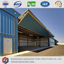 Hangar de avión de estructura de acero ligero