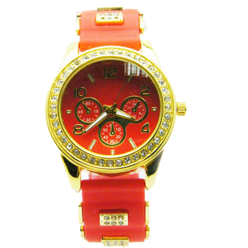 New Design Girls Silicone Quartz Wristwatch