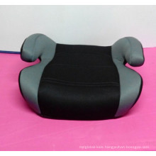 black and grey booster car seat