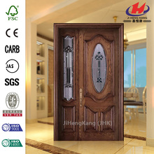 JHK-003 Sale Old Wood Design Frame Glass Interior Doors
