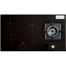 Gas On Glass Cooktop Schwarzer Herd
