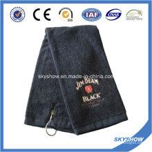 100% Baumwolle bestickt Golf Handtuch (SST1021)