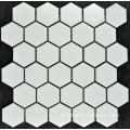 Telha do mosaico de porcelana Hexagonal pequena branca pura