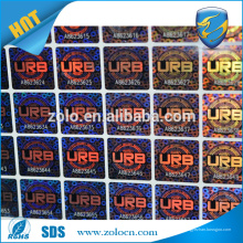 Etiqueta falsa creada para requisitos particulares del holograma, etiqueta holográfica 3d