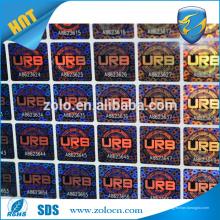 Étiquette holographique anti-faux personnalisée, étiquette holographique 3d