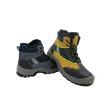New Designed Mixed Leather Type Safety Shoes (2015026)