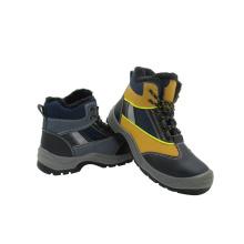 Novo design de calçado de segurança tipo couro misto (2015026)