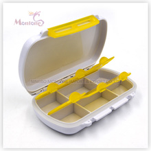 6 Grids Pill Box, Kunststoff Pill Box, Pille Container