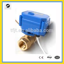 Válvula elétrica de latão de 2 vias válvula motorizada DC3.6v 12v 24v com sinal de retorno e falha perto da detecção de vazamento de água
