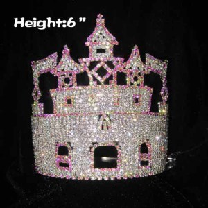 6in Wholesale Crystal Castle Pageant Crowns