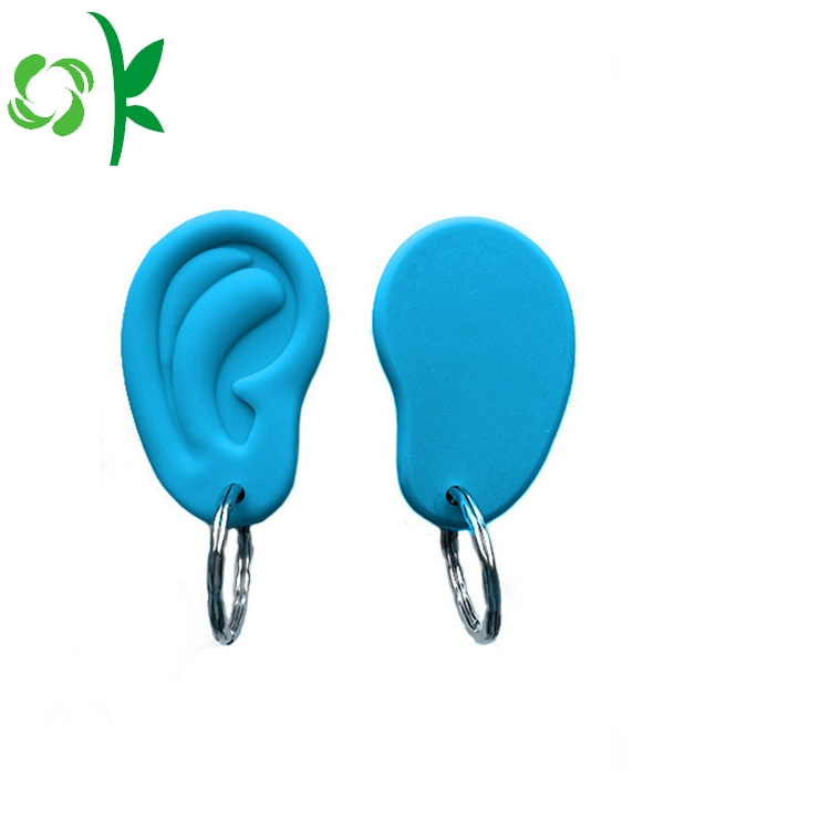 Ear Shape Silicone Keyrings