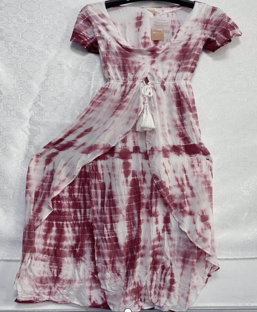 Woman's Rayon V-Neck Dress