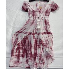 Woman's Rayon V-Neck Dresses