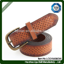 2015 Men's Classic Design Top Selling Unique Real Leather Hollow Leather Belt