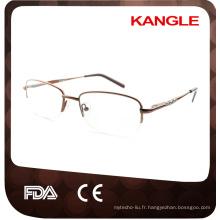 Montures optiques en métal économiques de base de ligne bon marché / lunettes en métal pour la dame