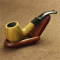 High Quality Ebony Wood Root Hand Made Smoking Pipe