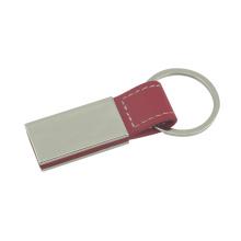 Carro de promoção marca de impressão logotipo cor de metal de couro chaveiro (f3056a)