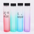 bouteille d'eau colorée bouteille en verre dépoli portable