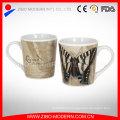 Vente en gros de tasse fine en porcelaine avec beau décalcomanie