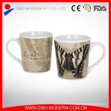 Taza de porcelana fina al por mayor con hermosa calcomanía