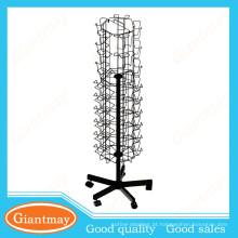suporte de exibição de cartão de presente de rack giratório de fio
