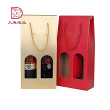 Boîte de cadeau d'emballage recyclable bon marché de logo fait sur commande pour le verre de vin