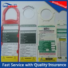 Échafaudage et inspection Étiquette d'enregistrement de l'échafaudage du système d'échafaudage