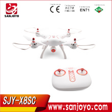 Original Syma X8SC RC Drone con cámara de 2MP Air Press Altitude Hold / Headless Mode con luz LED PK Syma X8SW SJY-X8SC