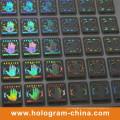 Etiqueta engomada del holograma del número de serie negro de la seguridad 2D / 3D