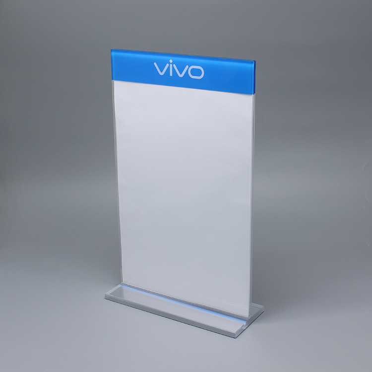 Customized Acrylic Sign Display Stand