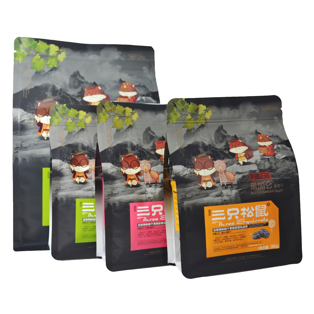 Flat Bottom Plastic Bags, Eco Friendly Snack Bags