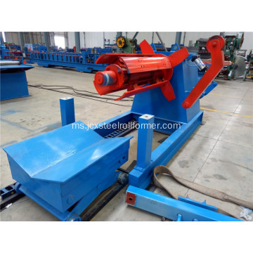 Coil hydraulic steel decoiler 5tons dengan loading car
