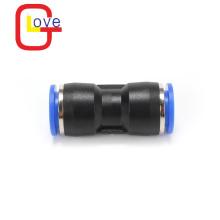 Conector rápido de plástico recto de un solo toque de tubo a tubo