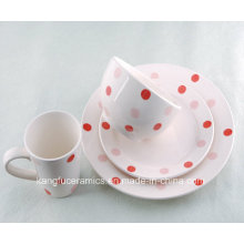 High Quality Lovely Dotted Ceramic Dinnerware Set