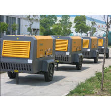 Portable Air Compressor for gold mine at Indonesia