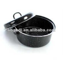 enamel roast pan with metal lid and SS201 or SS304 grid