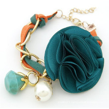 2015 Summer bohemian style flower bracelet handmade leather bracelet for women