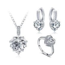 En forma de corazón conjuntos de joyería de la boda para las mujeres (cst0033-b)