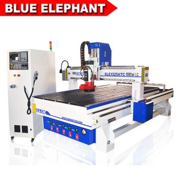 Máquina de gravura de alta velocidade 1325 do Cnc da madeira do router da escultura 3d do elefante azul