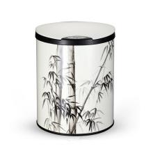 Dustbin De Sensor De Aço Inoxidável De Padrão De Bambu Elegante (YW003)