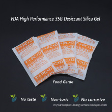 RoHS Compliant 35g Silica Gel Desiccant for Removing Humidity From Electronics Packing