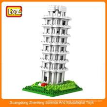 LOZ Arquitetura inteligente blocos de construção de plástico inteligente grande conjunto