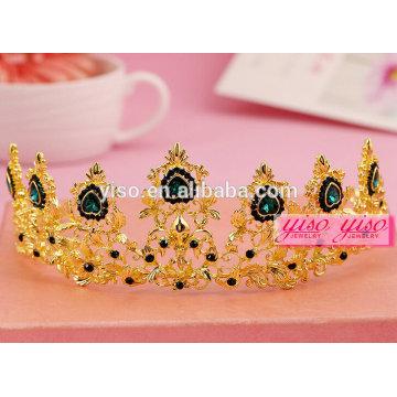 Chapeado dourado venda de cabelo quente tiara de festa de casamento