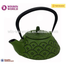 Beautiful luxurious cast iron teapot with infuser Colorful