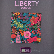 Custom high quality digital print liberty print cotton fabric