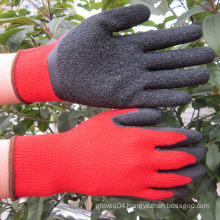 10 Gauge Palm Coated Latex Gloves Safety Work Glove