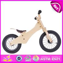 2014 nouveau vélo en bois d'équilibre pour des enfants, vélo en bois le plus populaire pour des enfants, jouet en bois de vélo de vente chaud pour bébé W16c084