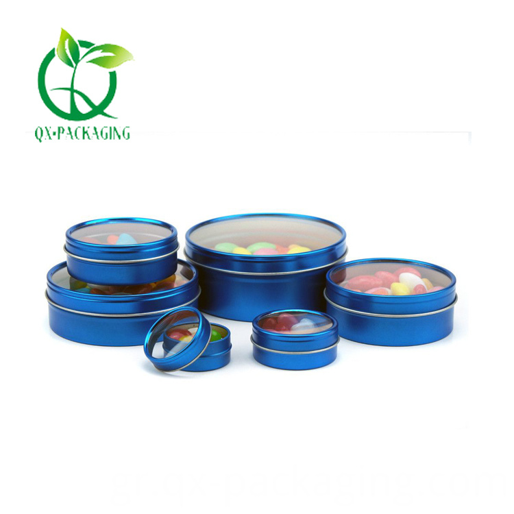 Round Favor Tins With Clear Lids