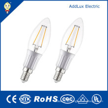 Clear Cover 3W E26 Warm White Filament LED Candle Bulb
