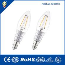 Bulbo claro morno claro da vela do diodo emissor de luz do filamento da tampa 3W E26